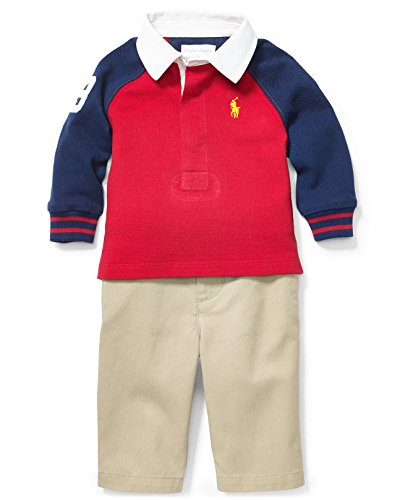 - RALPH LAUREN Newborn's 2PC Rugby Navy 6M