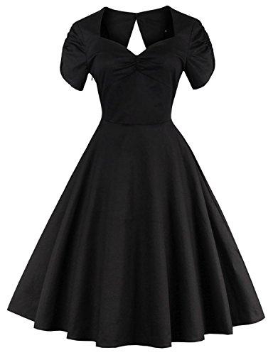Vintage loves retro lindy bop audrey audrey hepburn style dresses uk BLACK M (Fancy Dress Uk)