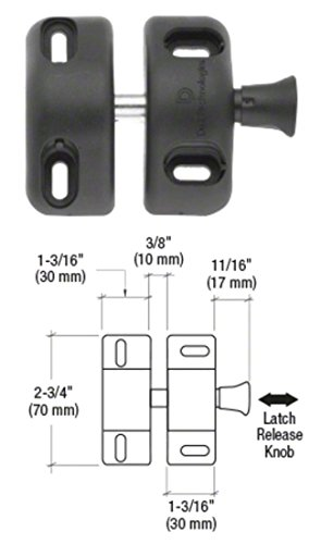 C.R. LAURENCE MLSP1 CRL Black Magna-Latch ''Side Pull'' Gate Latch by C.R. Laurence (Image #1)