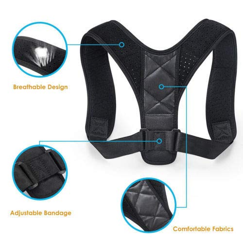 Posture Corrector for Women Men – Effective Comfortable Adjustable Posture Corrector – Back Brace – A1