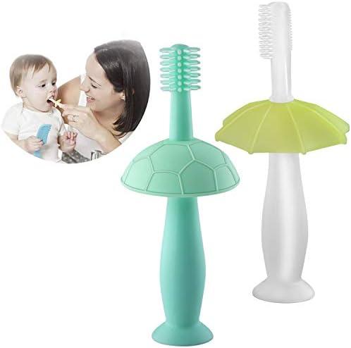 Brosse /à dents pour b/éb/é en silicone pour un nettoyage en profondeur et un massage des gencives