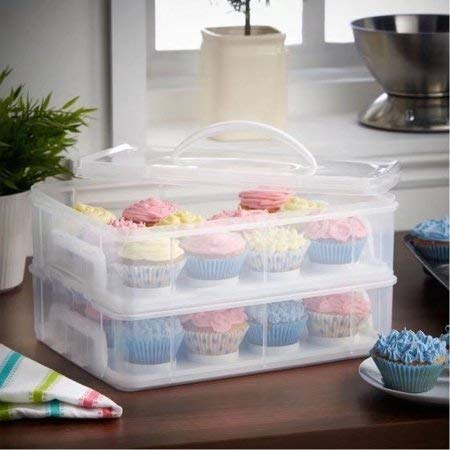 Better Home and Garden Clear 24 pieces Cup Cake Carrier by better home and garden