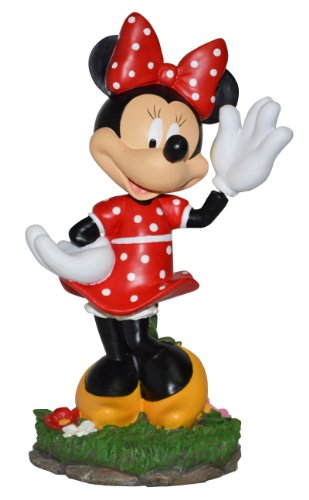 Woods International Disney Garden Statue, 11.5-Inch, Waving Minnie Mouse