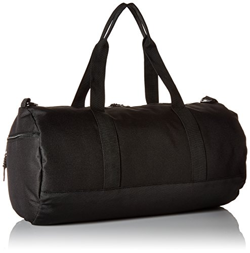 41RyHfvyj5L - Steve Madden Men's Solid Nylon Duffle, deep black, One Size
