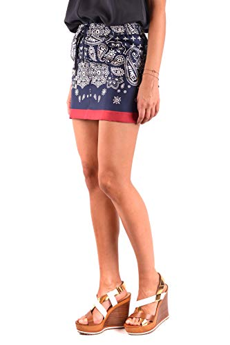 MONCLER Soie Femme Bleu Jupe MCBI212087O qrqwRxZS