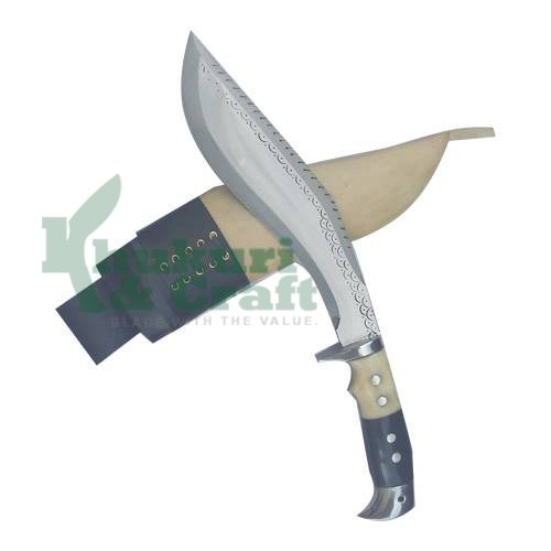 10 Blade American eagle Dragon bone and horn handle best kukri white sheath working,military knives,handmade by Khukuri  Craft, Nepal