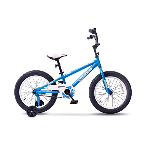 (COEWSKE BMX Cycling Kid Bikes Children Bicycle for Girl and Boy 16-18 Inch with Training Wheel(16