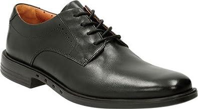 Men'S Clarks Black Leather Un Bizley Plain