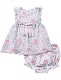 Bunny Damask Top and Bloomer Muslin Summer Set