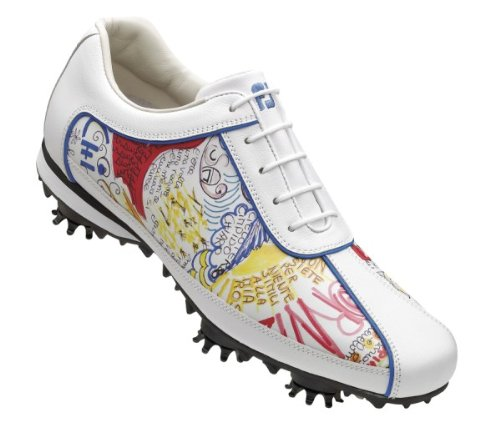 FootJoy LoPro Golf Shoes 97054 Women's White/Graffitti Medium 7.5