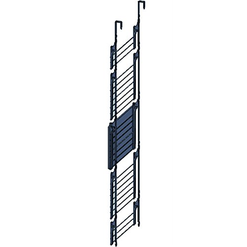 MSV 130124 Etendoir pour Porte/Mural avec Tablette 5 Niveaux Acier/Bambou Argent 180 x 55 cm 701/130124