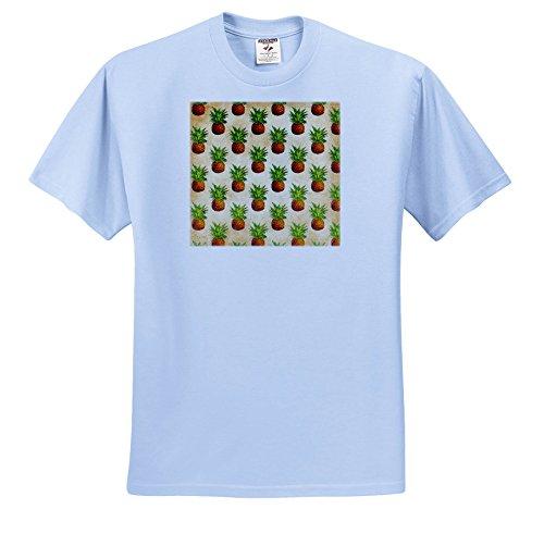 Uta Naumann Pattern - Aloha Vintage Pineapple Fruit Jungle Tropical Floral Hawaii Pattern - T-Shirts - Light Blue Infant Lap-Shoulder Tee (24M) (TS_268921_77) (Jungle Pineapple)