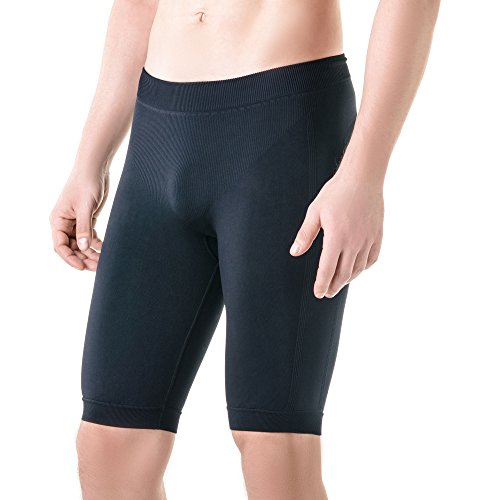 (Men's Enhancing Compression Underwear - Moisture Wicking Breathable Performance Underwear (Black - Knee Length, L/XL))