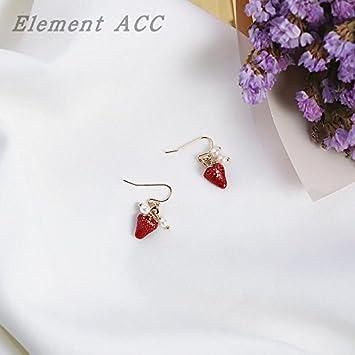 3a9a53a8025e ... in Ja and South Korea lovely strawberry earrings ear clip without  pierced ears can wear earrings temperament female fashion jewelry earrings    Beauty