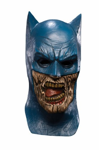 Blueest Night Batman Zombie Overhead Latex Mask, Blue, One Size