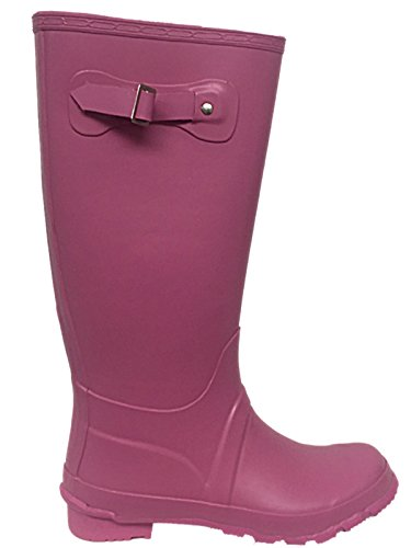 Original Wellies Pink Snow Waterproof Size Ladies 3 Tall Festival Buckle Foster 8 Wellington Boots Rain Matte Footwear 8Zn0PE
