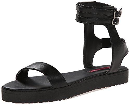 C Etichetta Donna Gilda 4 Platform Sandalo Nero