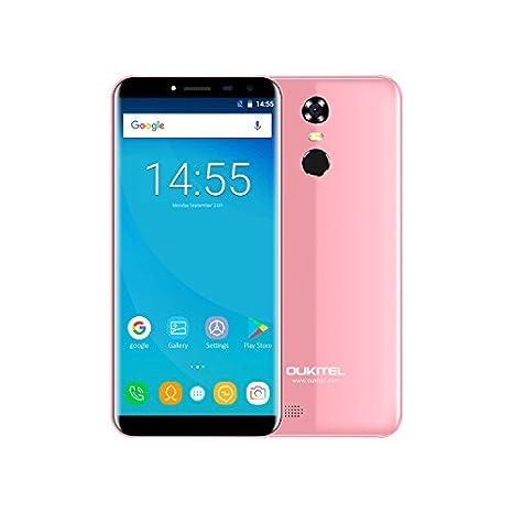18:9 Aspect Ratio Full Vision Cheap Mobile Phones,OUKITEL C8 5.5 inch Android 7.0 3G Dual SIM Unlocked Smartphone Quad Core 5MP+13MP Camera 2GB RAM 16GB ROM 3000mAh Battery Fingerprint cell phones