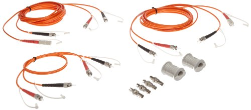 Fluke Networks NFK1-DPLX-ST3 Duplex Multimode 3 Jumper Test Reference Cord kit for ST Adapter, 62.5 µm, SC/ST - 2 m Cable Length, ST/ST - 0.5 m Cable -