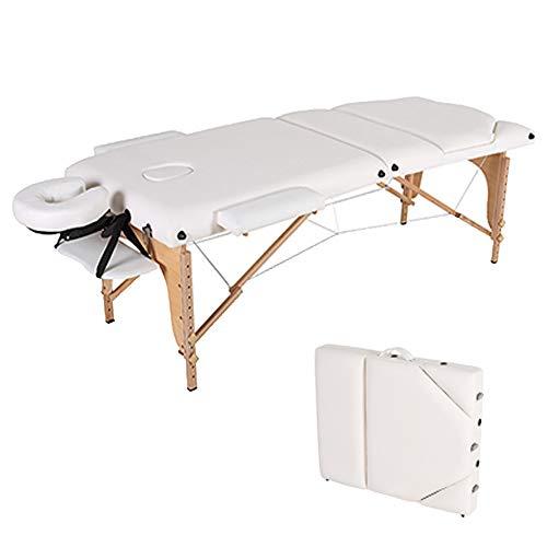 Relax Table Mesa de Masaje Profesional Portátil Plegable para Facial Tatuaje SPA Fisioterapia Belleza Salón,White