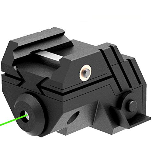 Laspur USA Mini Sub Compact Tactical Rail Mount Low Profile Laser Sight with Build-in Rechargeable Battery for Pistol Rifle Handgun Gun (Green)