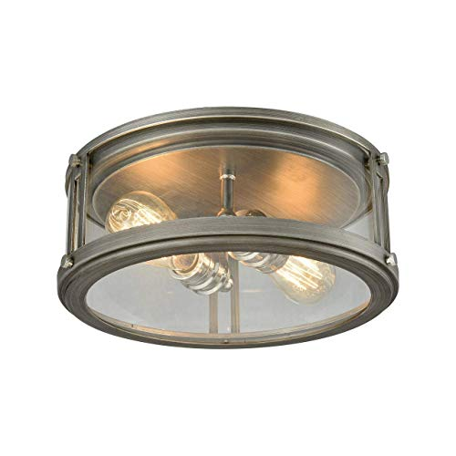 Elk Lighting 11880/2 Close-to-Ceiling-Light-fixtures, 5 x 13 x 13, Gray ()