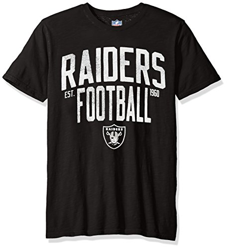 (G-III Sports NFL Oakland Raiders EleMen'sts Short Sleeve Fashion Top,Large,Black)