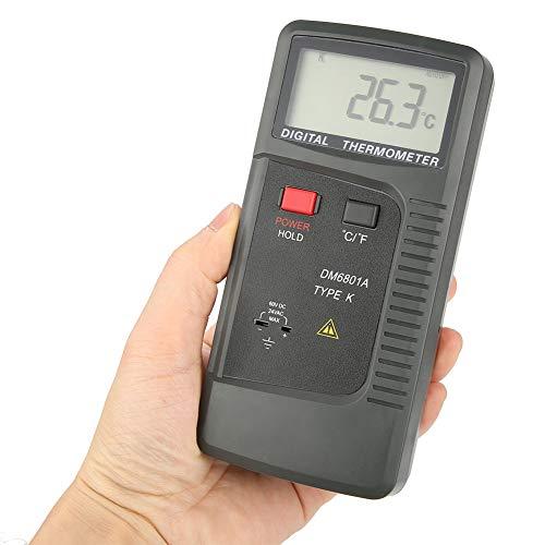 Akozon Termómetro digital termopar, canal doble, termopar K/J, LCD Medidor de temperatura, (-40~250 ° C): Amazon.es: Industria, empresas y ciencia