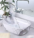 Joyo Cera Ceramic Glossy Finish Wash Basin (18x12-inch, White)