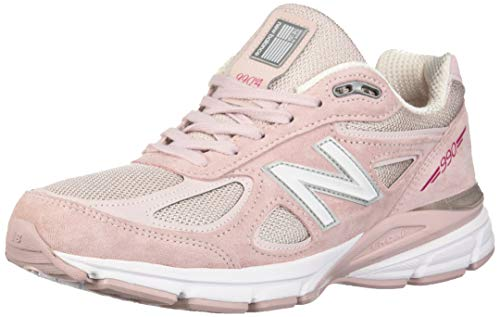 New Balance Men's 990v4 Running Shoe, Faded Rose/Komen Pink, 11 D US
