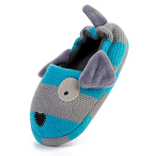 FEETCITY Toddler Boys' Doggy Slipper Cartoon Puppy Crochet Shoes Size 7.5-8 by FEETCITY (Image #1)