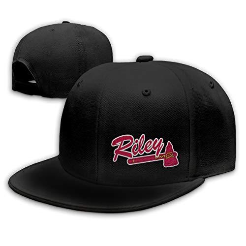 Moore Me Adjustable Baseball Cap Navy Atlanta Riley Logo Cool Snapback Hats ()