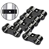 AN6 Hose Separator Aluminum Clamp - Fuel Line Fitting Adapter Mounting Clamps Great for 3/8 Oil Water Hose pipe-5Pcs/Pack