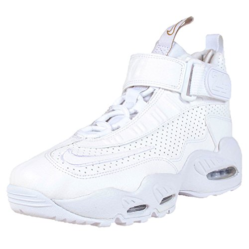 Nike Kids Air Griffey Max 1 (GS) White/White Blue Glow Mtlc Gld Training Shoe 4 Kids US (Griffey Big Kids)