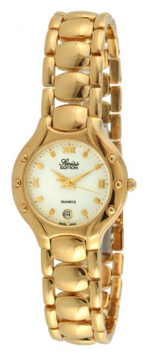 (Swiss Edition Women's Watch with 23k Gold Plated Dress Bracelet and Swiss Made Analog Quartz)