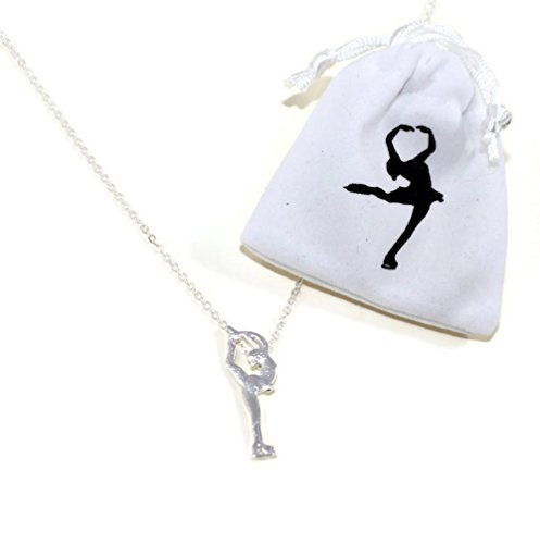 CRS Cross Figure Skating Necklace in Biellmann Spin position Silver (Necklace)