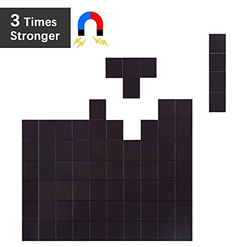 res with Adhesive by House Again - Each 20x20x2mm - Perfect for Crafts & DIY Projects, Hanging & Organizing Light Objects at Home Office or Warehouse, 70Pcs (Stick Magnet)