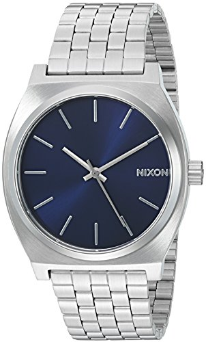 Nixon-Mens-Time-Teller-Quartz-Silver-Tone-Stainless-Steel-Casual-Watch-Model-A0451258-00