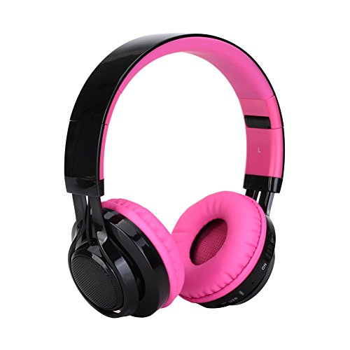 AB005 Wireless Bluetooth Headphone LED Light Stereo (Pink) - 2