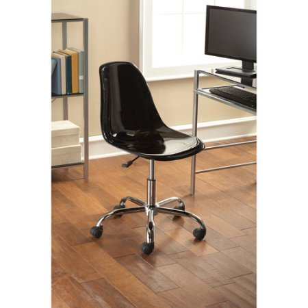 Contemporary Office Chair, Multiple Colors Sleek, durable and comfortable Product Adjustable height Shiny chrome base legs Made with ABS material Dimensions (L x W x H): 24.41 x 22.64 x 34.25 Inches