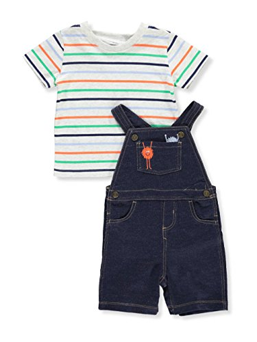 Carter's Baby Boys' 2 Piece Striped Monster Tee and Shortalls Set 12 Months by Carter's