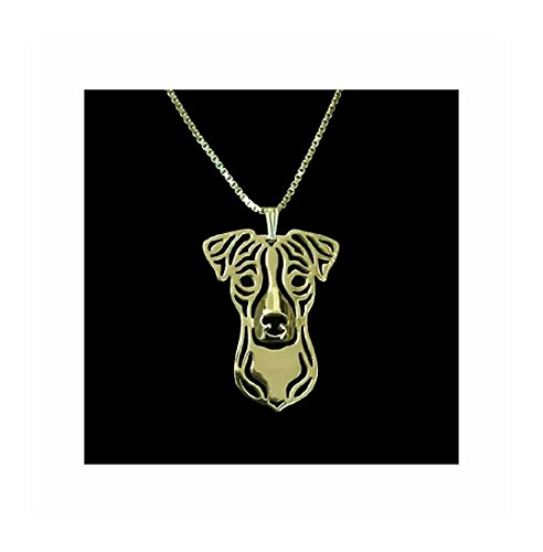 Jack Necklace Russell (Jack Russell Terrier Dog Necklace Gold-Tone)