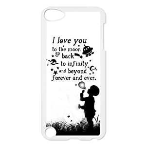 Love Quote I Love You To The Moon And Back Protective Hard PC Back Fits Cover Case for iPod Touch 5, 5G (5th Generation)