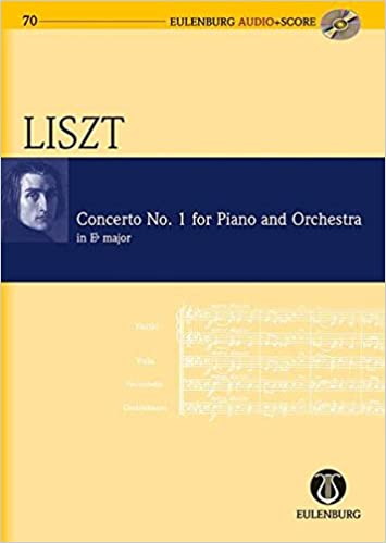 Concerto No 1 for Piano and Orchestra in E-flat Major Study Score//CD