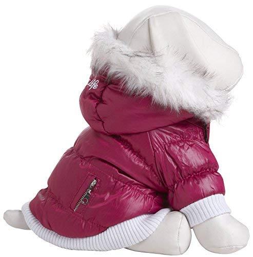 Pet Life Metallic Pink Parka Dog Coat XS