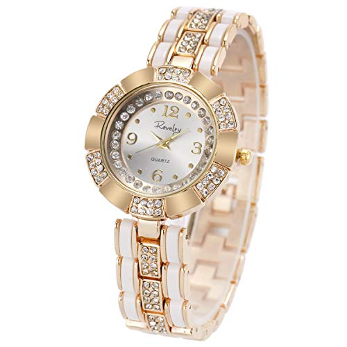 Wrist Watch Women Lady Gold Stainless Steel Crystal SIBOSUN Quartz Dress Gorgeous - Ladies Watch Crystal Quartz