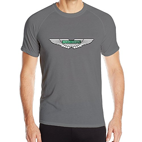 NImao Mens Aston Martin Logo ShortSleeve Compression T ShirtsTee - Aston martin apparel