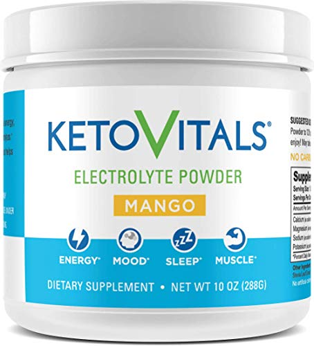 (Keto Vitals Electrolyte Powder | Keto Friendly Electrolytes with Potassium, Magnesium, Sodium & Calcium | Keto Electrolytes Supplement Energy Drink Mix | Zero Calorie | Zero Carb | Sugar Free)