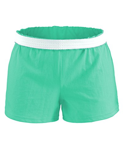 Soffe Athletic Youth Cheer Shorts, Light Turquoise, Large 2007 Ladies Jersey Shorts