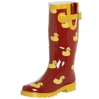 chooka womenu0027s rubber duck bootred8 m - Duck Rain Boots